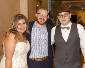 DJ Andy Miller after another incredible wedding. Pictured here with the newlyweds in January 2016